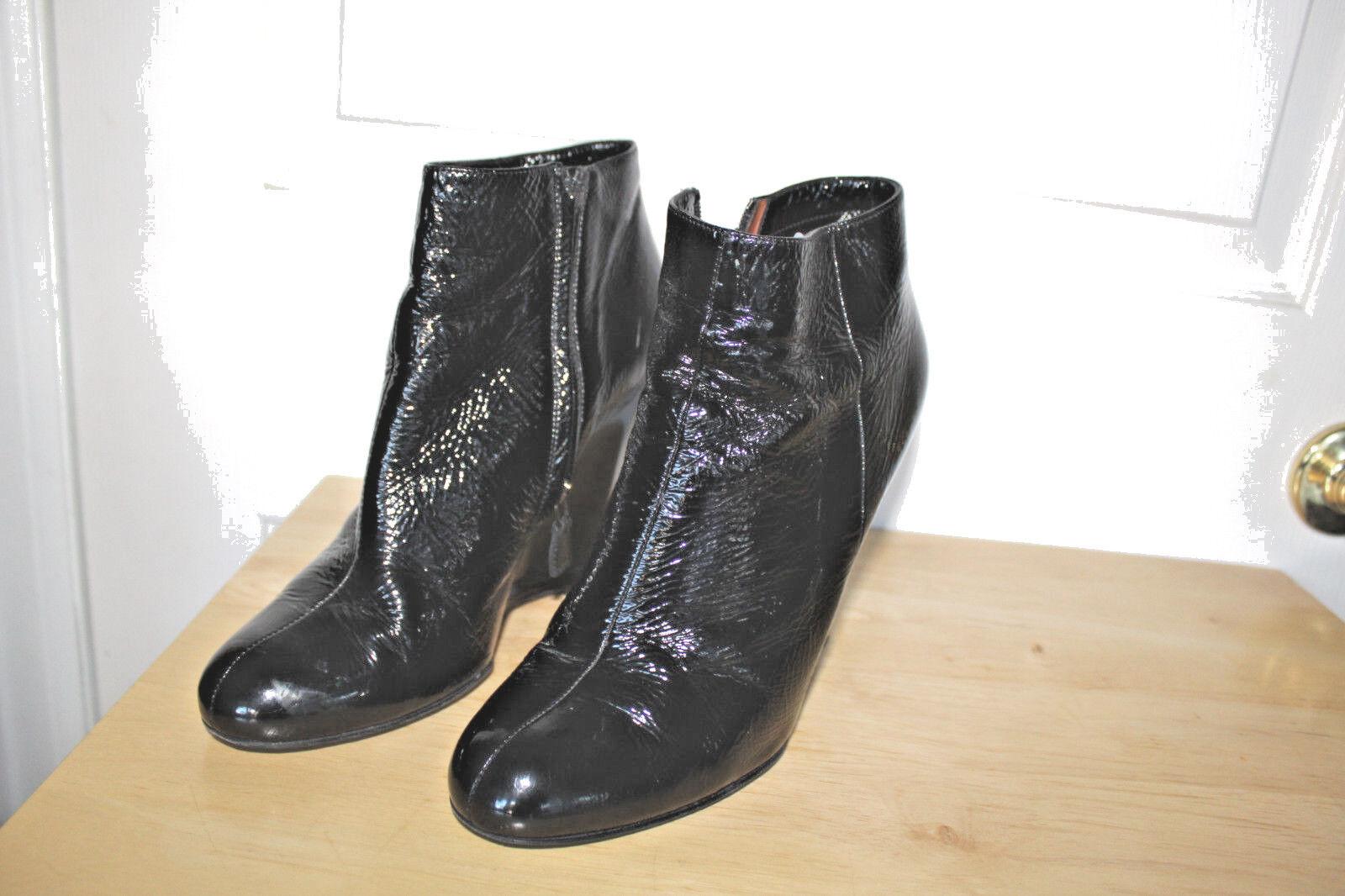 goditi il 50% di sconto LANVIN GOERGOUS nero PATENT LEATHER scarpe avvioIES MADE IN ITALY ITALY ITALY SZ 40 US 9 EUC  autentico
