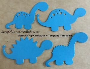 Die-Cuts-DINOSAURS-x4-sets-Blue-Stampin-Up-C-S-Scrapbooking