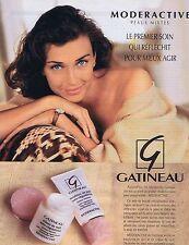 PUBLICITE ADVERTISING 025 1992 GATINEAU soins de la peau