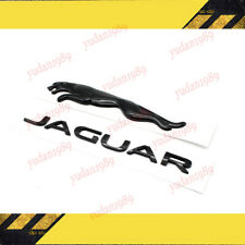 2x Glossy Black Jaguar Logo Emblem Rear Badge Decal Xf Xj Xk Xjr Xjs E X S Type Fits Jaguar