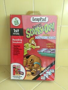 NEW-LeapFrog-LeapPad-Scooby-Doo-amp-Donuts-Interactive-Book-amp-Cartridge-Sealed-Pkg
