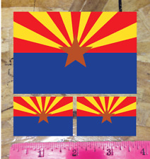 "4/"" Arizona State Flag Sticker Die Cut Decal America American 3 for 1"