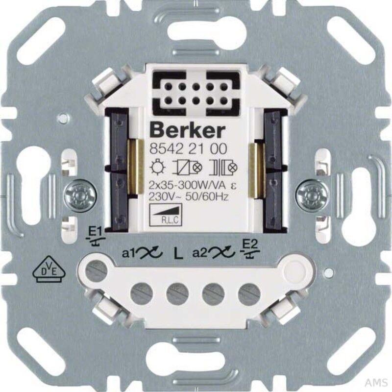 Berker Universal Interruptor de Atenuador 2fach Electrónica de Casa 85422100