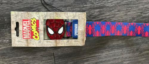 Marvel Spiderman//Hombre Araña hebilla y cinturón para Adulto BNWT £ 1.99 gastos de envío a todo el mundo