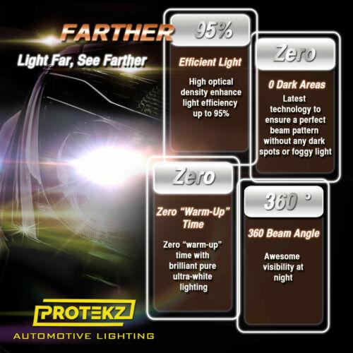 LED Headlight Bulb Hi//Lo Kit H4 9003 HB2 6000K White For 1995-2003 Mazda Protege