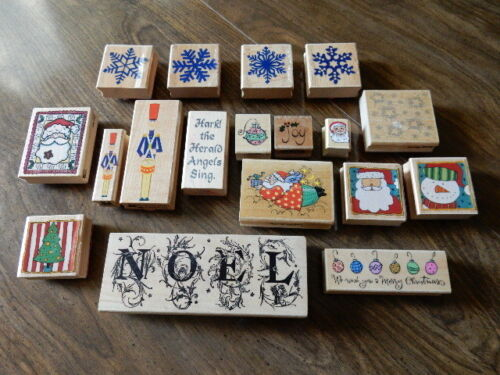 Christmas Collection of 18 Rubber Stamps