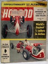HOT ROD MAGAZINE NOVEMBER 1956 NEW 57 PLYMOUTH VINTAGE CARS AUTOMOBILES