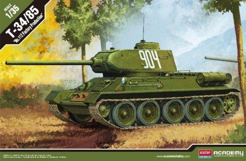112 Factory Production Tank 1:35 Plastic Model Kit ACADEMY T-34//85 no