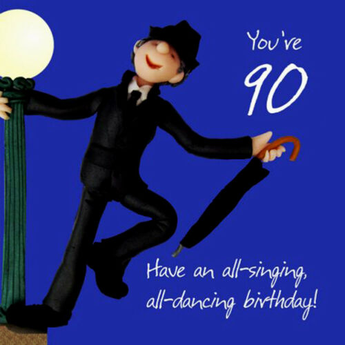 One Lump Or Two 90th Birthday Card For A Man 6 x 6 Inches