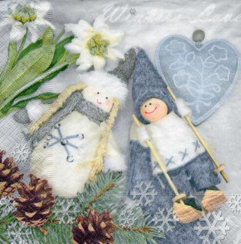 1228 4 Servietten Motivservietten Decoupage Weihnachten Stoffwichtel