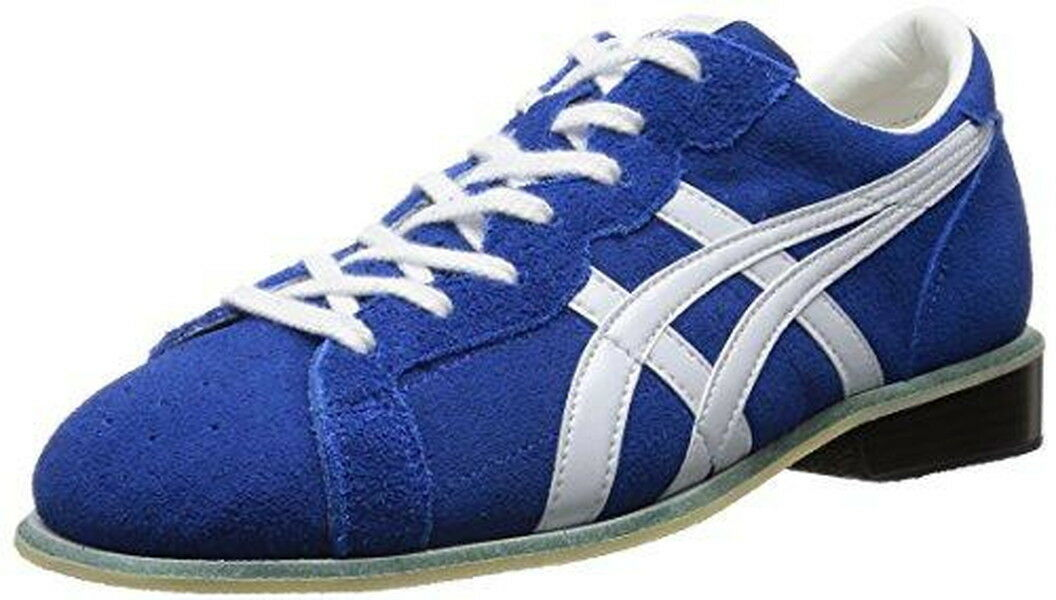 Weight Lifting shoes 727 Asics bluee White US7 25cm Leather Japan import New F S