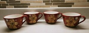 LAURIE-GATES-4-PC-HOLIDAY-TREATS-GINGERBREAD-MAN-CUP-SET-X-MAS-COFFEE-TEA-COCOA