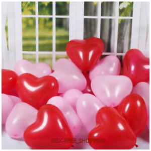 """10/"""" inch Red /& white Heart Shape Balloons Valentines Special Decorations baloon"""