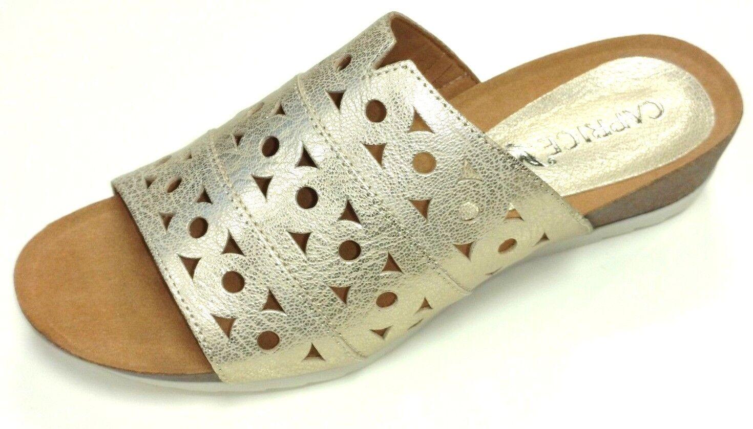 Caprice Damen Schuhe Sandale Pantolette Pantolette Pantolette bequem Leder 27100 Leder f5f6e0