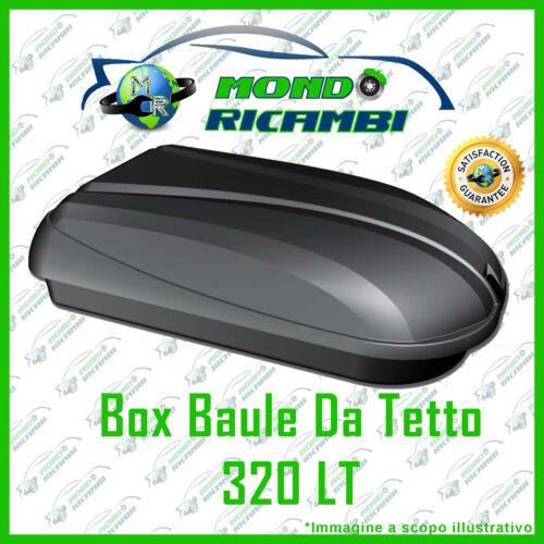 BOX PORTATUTTO  DA TETTO CAMTEK 320 LT UNIVERSALE PORTABAGAGLI