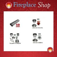 Complete Flexible Chimney Flue Liner And Fitting Kit Woodburning Stove Multifuel