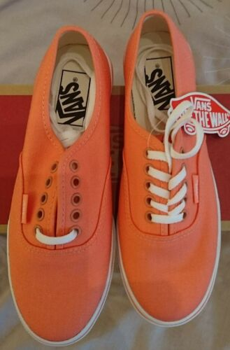 Authentic Et Uk Dames Fusion 4 Bnib Coral Filles Blanc Lo Pro Vans Fax0qd4F