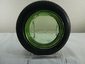 Vintage Salesman Sample  BF Goodrich Silvertowns Tire w/ green depression glass