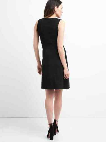 1422b4 Gap Maternity Wrap Sz Dress Black L YZOxYn8