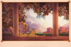 POSTER-ART-DAYBREAK-BY-MAX-PARRISH-1922-FREE-SHIPPING-1892-LW6-L