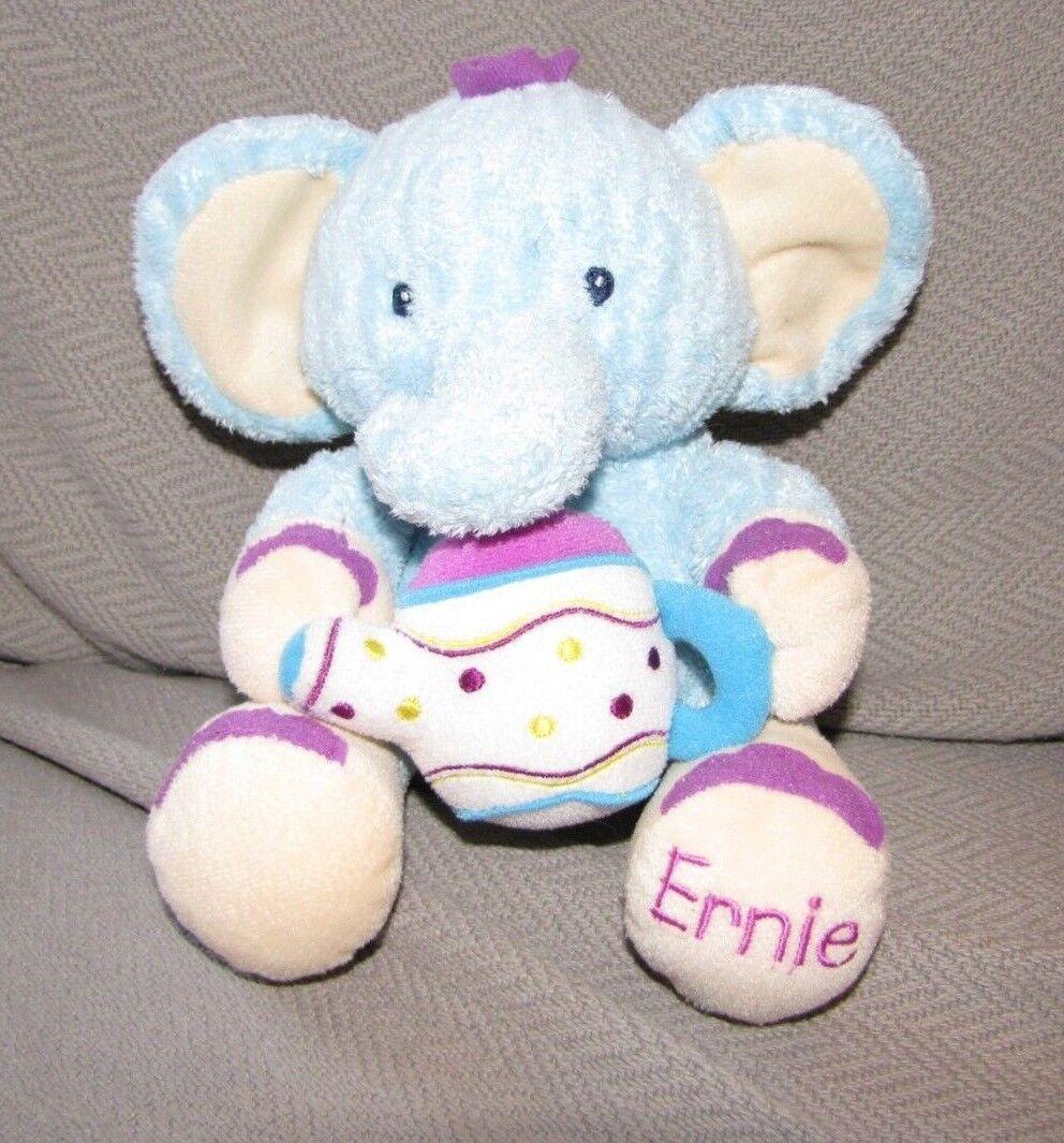 KIDS II BRIGHT STARTS ERNIE ELEPHANT STUFFED PLUSH blueE blueE blueE PURPLE TEA POT TOY fc9809