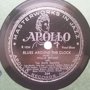 Details About WILLIE BRYANT TAB SMITH SEPTETTE Blues Around The Clock  APOLLO 364 78RPM HEAR