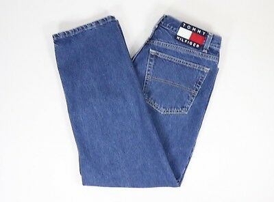 Frank Vintage 90's Tommy Hilfiger Women's Jeans Box Logo Straight Leg Size 13/28 Clothing, Shoes & Accessories