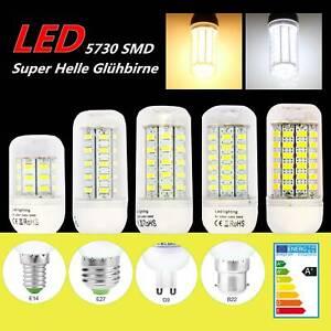 E14-E27-G9-B22-5730-LED-Gluehbirne-Birne-Mais-Licht-Leuchtmittel-Sehr-Hell-Lampe