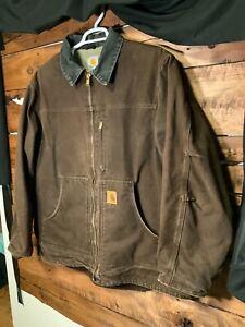 Carhartt Mens Jacket Size  2XL  Heavy Jacket ,Sherpa Lined