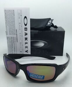 7068047e38 Image is loading Polarized-OAKLEY-Sunglasses-FIVES-SQUARED-OO9238-18-Black-