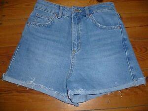 TOPSHOP femme bleu jean petite amie Short Taille 6