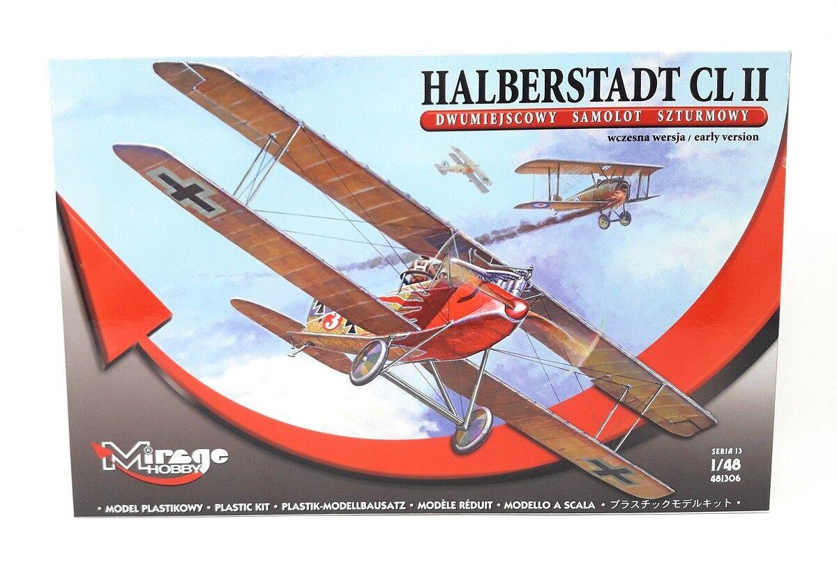 Mirage Hobby Plastic Model Kit 1 48 Military Airplane Halberstadt CL 2