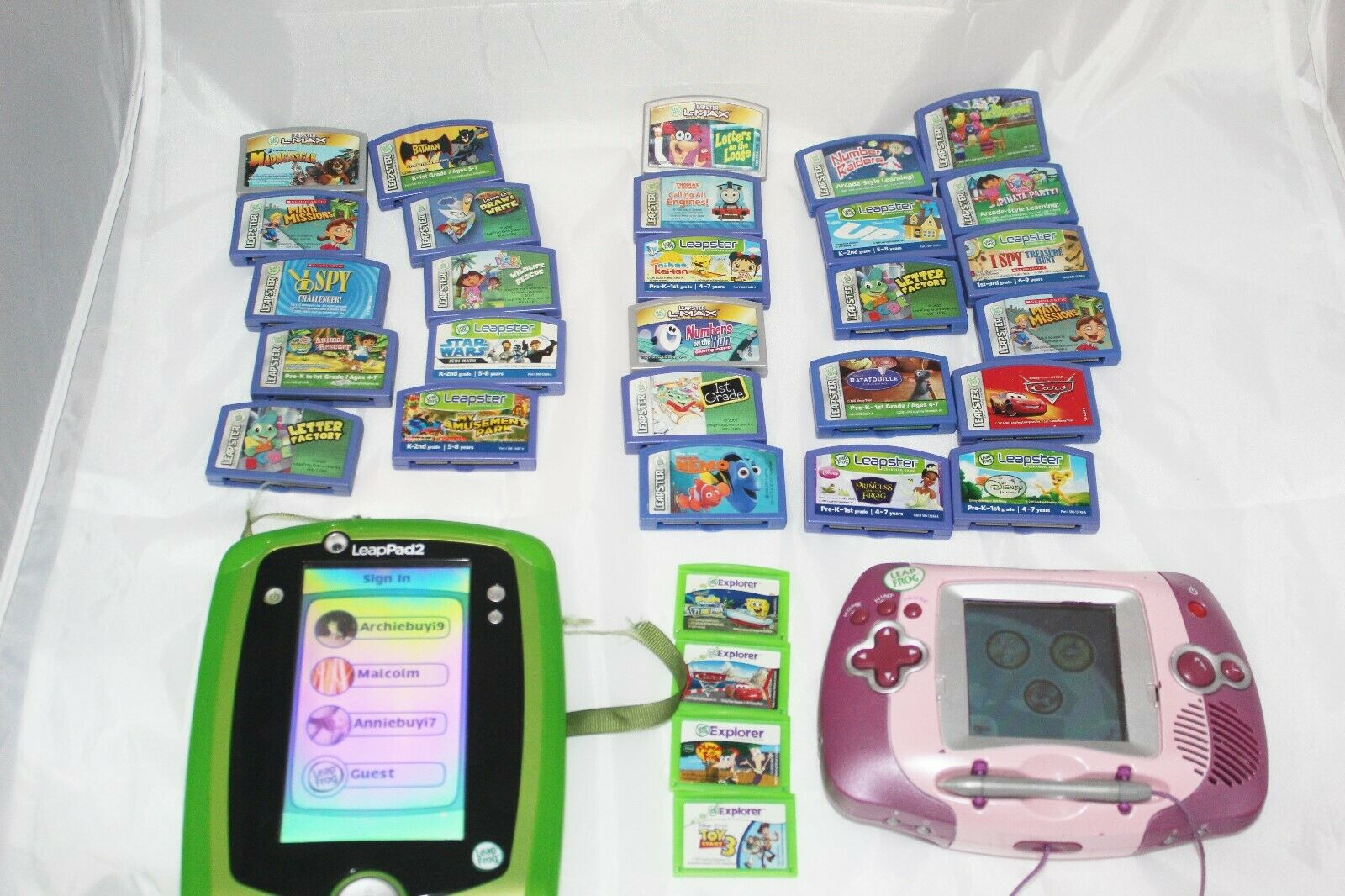 Massive Leappad and Leapfrog systems and games with case