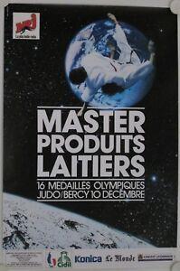 Affiche Judo 1989 Master Produits Laitiers Médailles Olympiques