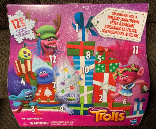 Brand New Sealed Trolls DreamWorks Holiday Countdown Advent Calendar Prize Box