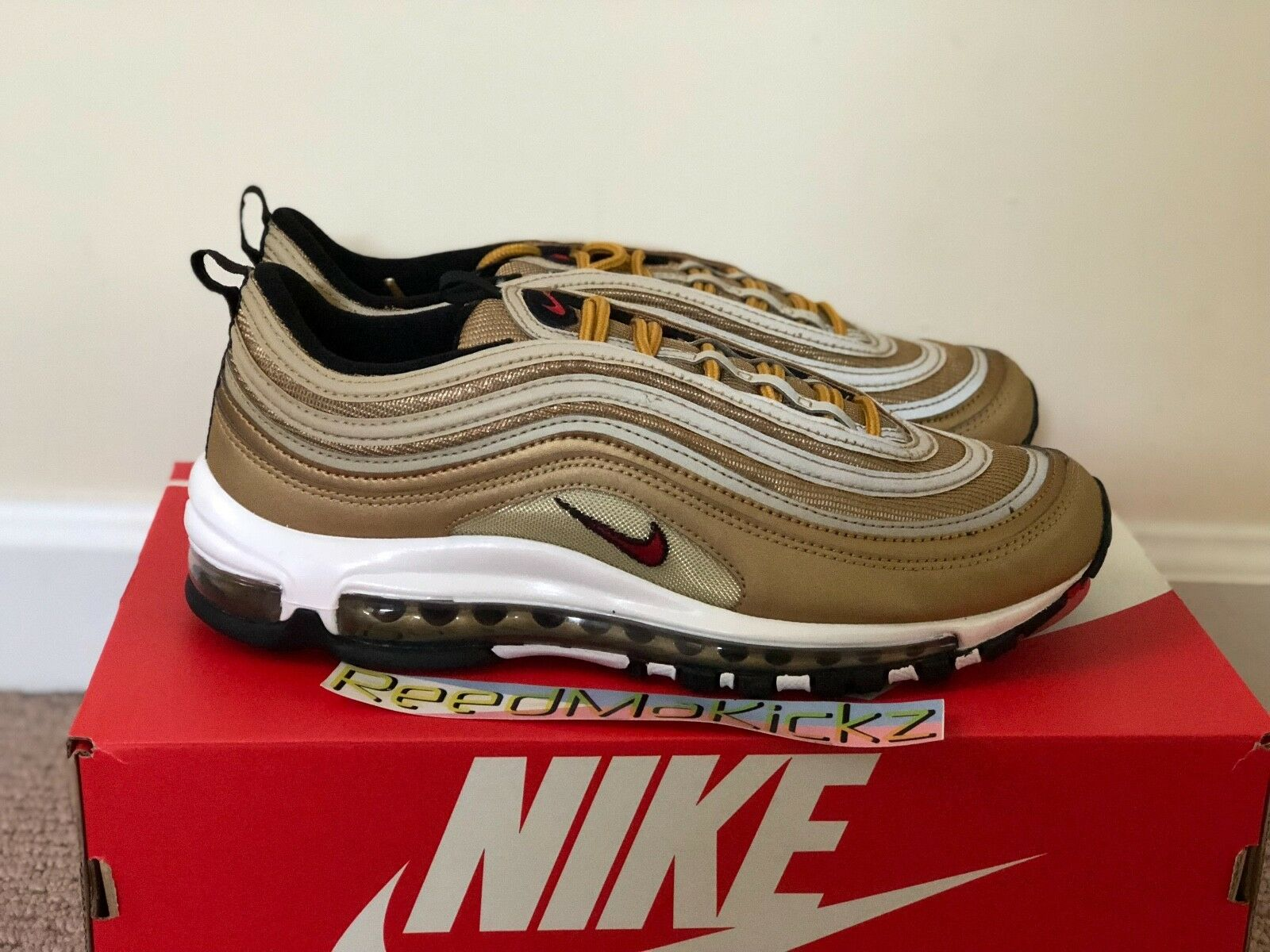 wholesale dealer 5fa48 75421 ... Nike Air Air Air Max 97 OG QS Metallic Gold mens sizes 884421 700  9049c3 ...