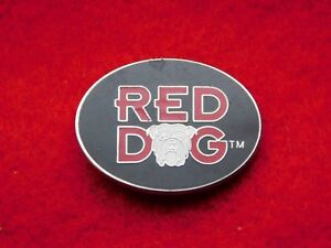 VINTAGE METAL PIN RED DOG