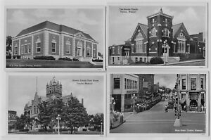 3-1910-era-amp-4-1930-039-s-40-039-s-era-Trenton-Missouri-MO-Postcards-Really-Clean