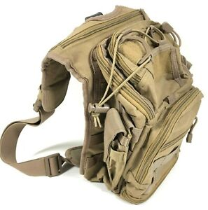 Army-Brown-Green-Airsoft-Paintball-Tactical-Satchel-Carry-Bag-w-Shoulder-Strap