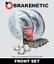 FRONT BRAKENETIC SPORT Drill Slot Brake Rotors POSI QUIET CERAMIC Pads BSK76500