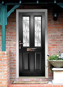 black front doorBlack Composite Door  Made to Measure  Quality Black Composite
