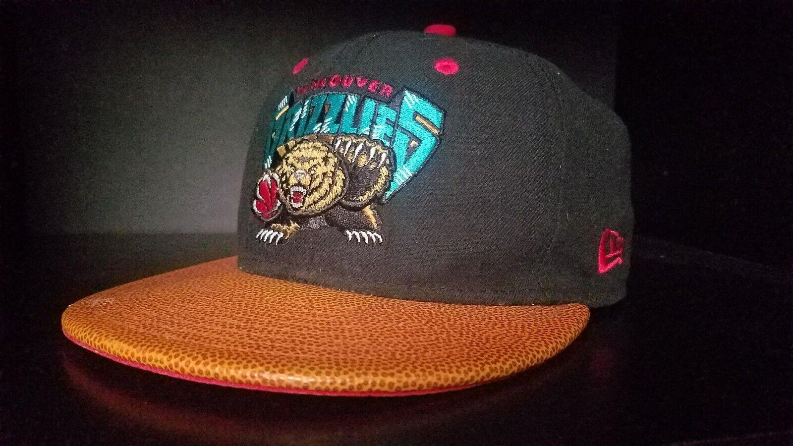 VINTAGE Strapback style New Era NBA Vancouver Grizzlies Strapback VINTAGE hat Bball bill RARE 375fa6
