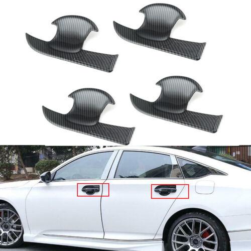 For 2018-2020 Honda Accord 10th Carbon Fiber Side Door Handle Bowl Cover Trim