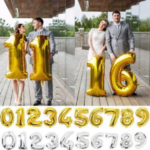 Gold Silber Helium Folie 40 Anzahl Ballons Geburtstag