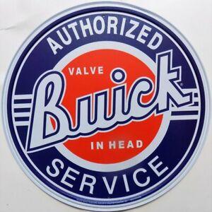 Platte-Metall-Vintage-USA-Buick-Service-30-CM