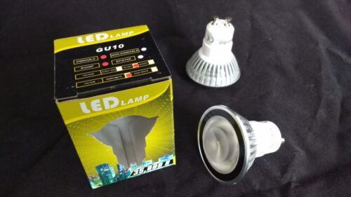 10x led GU10 3.5w blanc chaud longue durée de vie 25 ans d'économie d'énergie lampe ampoule 120V