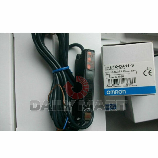 OMRON E3X-DA11-S PHOTOELECTRIC DIGITAL FIBER SENSOR AMPLIFIER PLC NEW