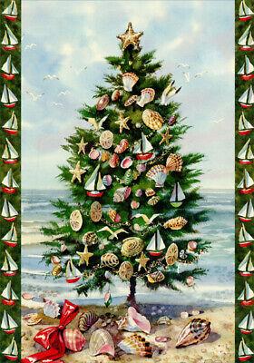 Beach Tree Kate McRostie Box of 18 Coastal Christmas Cards