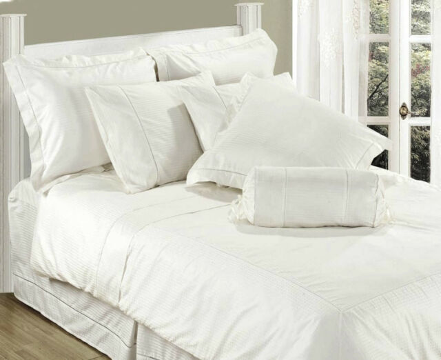 Single Bed Flat Sheet White Luxury 100 Cotton 330 Thread Count