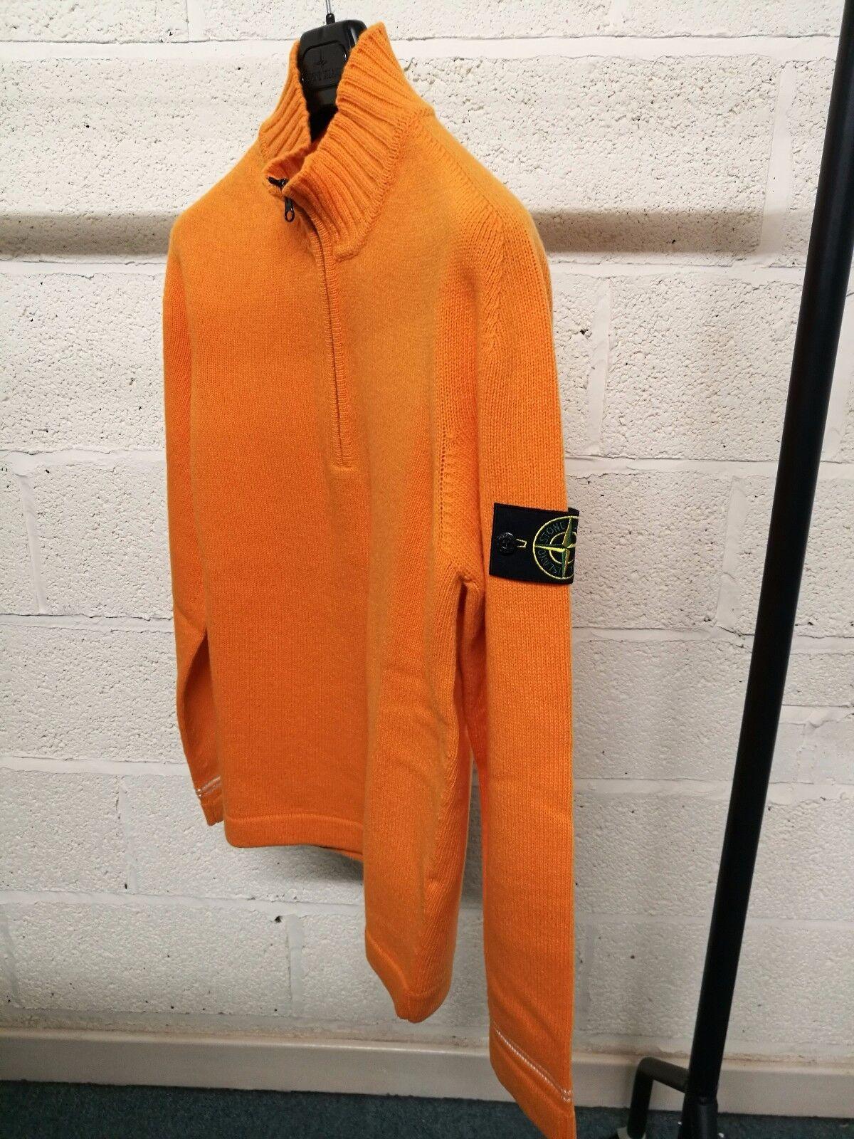 STONE Island Maglia a mezza zip zip zip in Arancione Prezzo Consigliato  BNWT 87d643